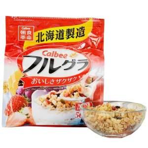 日本calbee富果乐网红水果干吃麦片500g即食谷物早餐